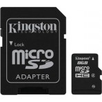 Memória MicroSD Kingston 8GB - Class 4