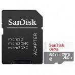 Cartão de Memória SanDisk Ultra - SDSQUNR-064G-GN3MA - Micro SDXC 64GB com Adaptador SD