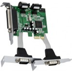 Placa PCI Express 2 saídas seriais RS232 e 1 paralela PCIe - Low Profile