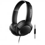 Fone de ouvido Supra-Auricular Philips BASS+ SHL3075BK/00 - Com microfone - Preto