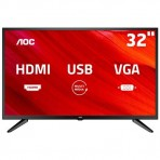 "Televisor AOC 32"" - LE32M1475 - HD (1366 x 768) - Com conversor digital integrado - Hdmi e USB"