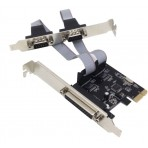 Placa PCI-Express DEX DP-03 - 2 Saídas Serial + 1 Paralela