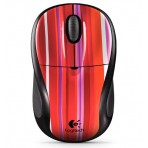 Mouse óptico Logitech V220 Cordless Optical para Notebook - Candy Strip