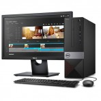 Computador Dell Vostro 3470 SFF com Processador Intel® i3-8100 - 4GB RAM DDR4 - 1TB HD - Windows 10 PRO + Monitor Dell E1916H (1366x768)