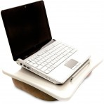 Suporte para Notebook Ozom E-Base XSB 080 - Champagne e Branco