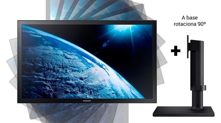 Monitor 21.5 LED Samsung S22E410 - 1920x1080 + base que rotaciona 90°