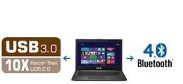 Dados rápidos de transferência com USB3.0, Bluetooth 4.0